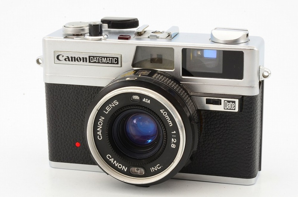 Canon Datematic Rangefinder Film Camera with 40mm F2.8 ...
