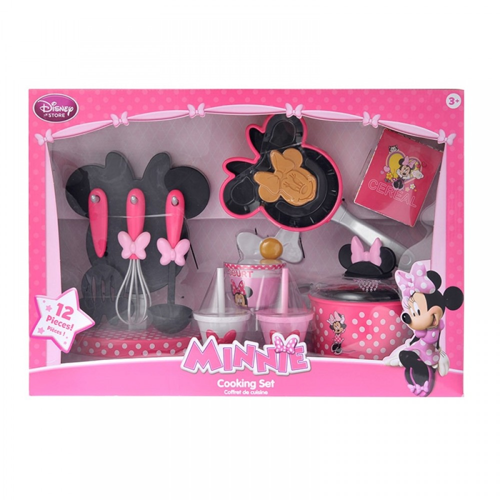 Minnie Mouse Play Kitchen: Disney Store Minnie Mouse Toddler Girls Kitchen Cooking