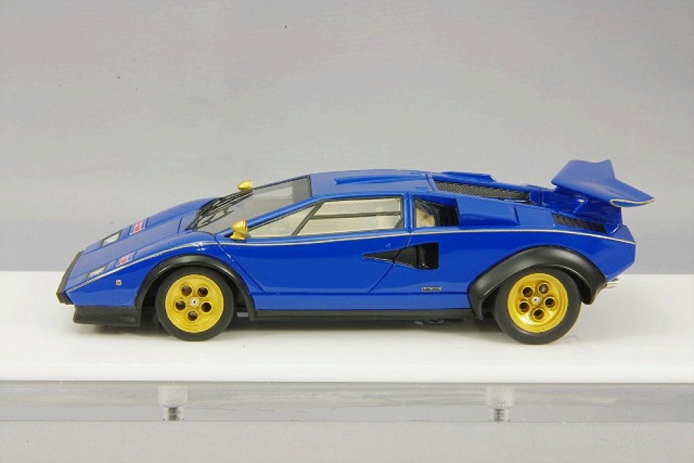 eidolon 1 43 lamborghini countach lp500s walter wolf 1976 blue ebay. Black Bedroom Furniture Sets. Home Design Ideas