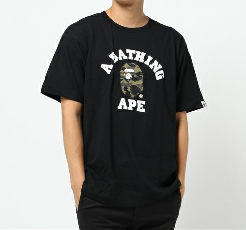 A Bathing Ape 1st Camo College Tee 6 Colors Print Bape