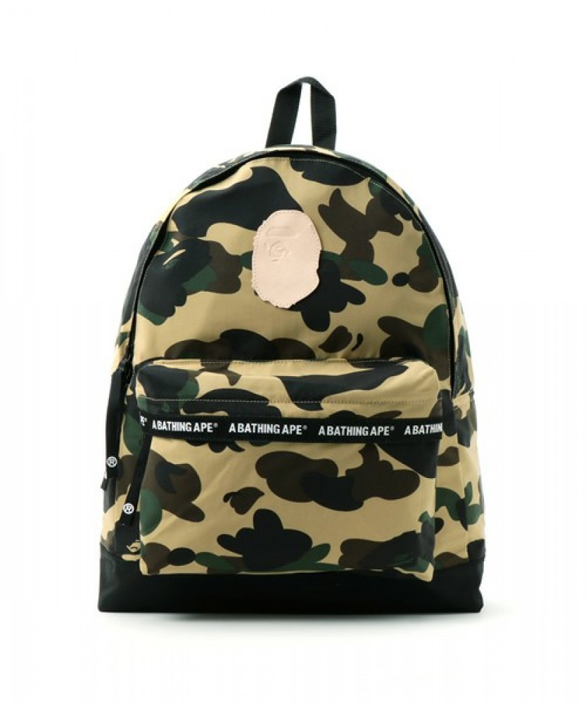 A BATHING APE 1ST CAMO DAY PACK Green/Yellow BAPE Original ...