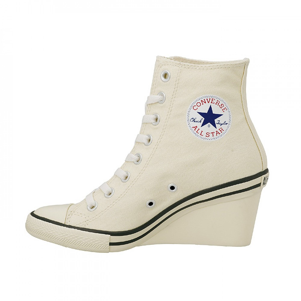 CONVERSE ALL STAR WEDGE HI Heels Sneakers Women Lace Up Shoes ...