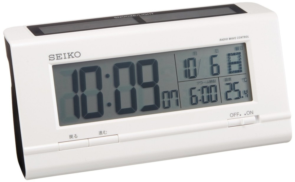 seiko clock radio digital alarm clock hybrid solar type. Black Bedroom Furniture Sets. Home Design Ideas