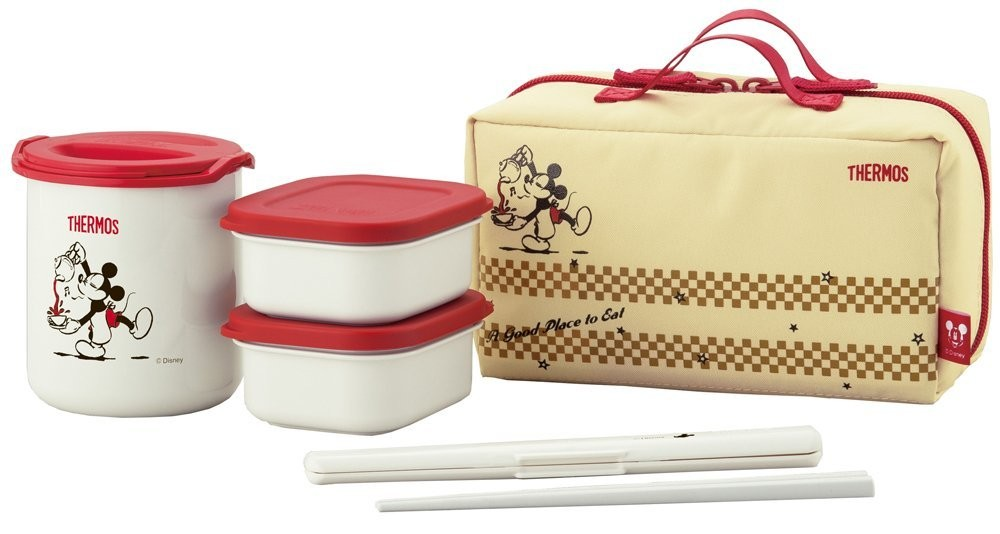 new thermal lunch box bento food container thermos x disney mickey mouse japa. Black Bedroom Furniture Sets. Home Design Ideas
