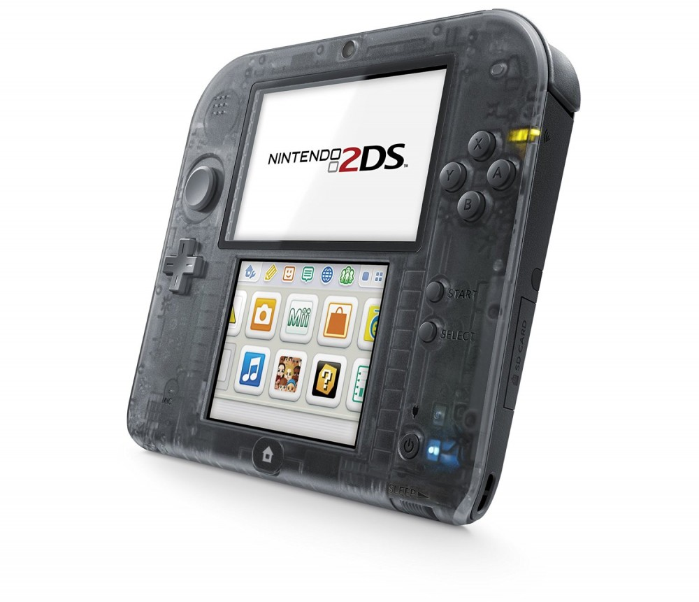 Nintendo 2ds game console clear black japan ebay - Can you play 3ds games on 2ds console ...