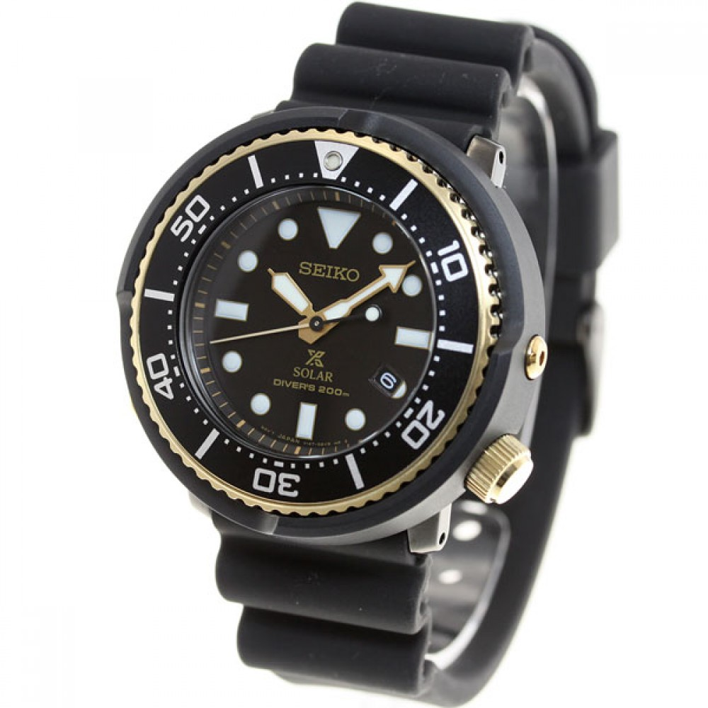 New seiko prospex lowercase solar diver 200m men 39 s watch sbdn028 japan import ebay for Solar watches