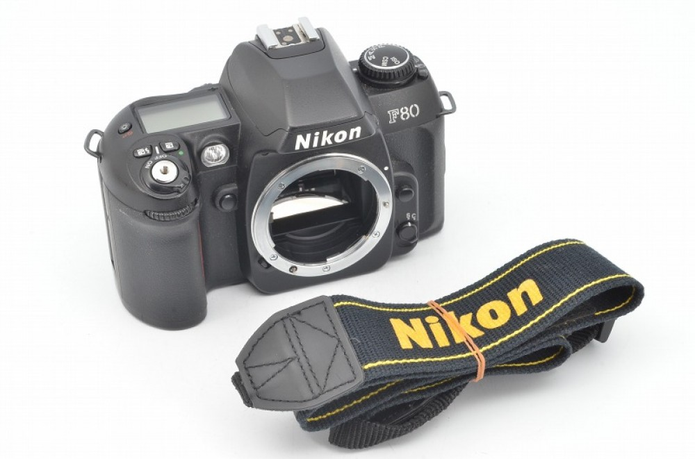 nikon f80 35mm slr film camera body with strap from japan