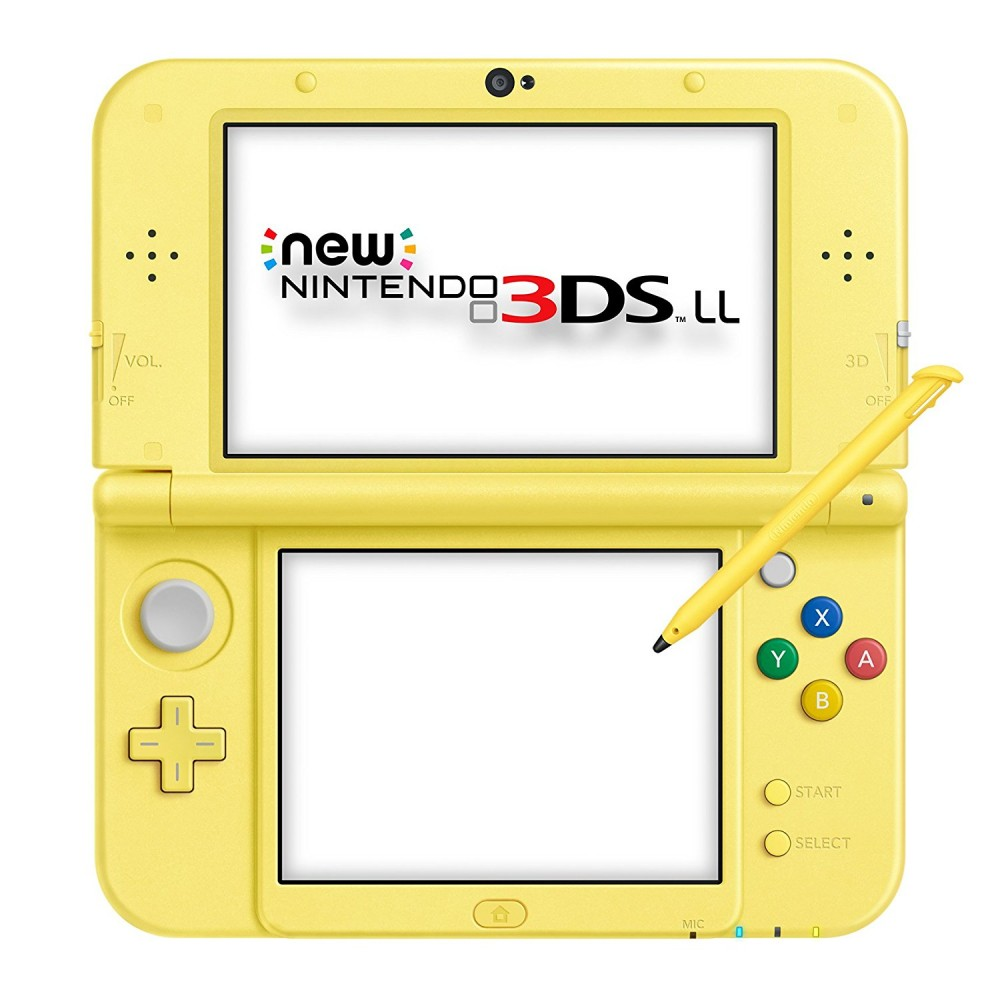 new nintendo 3ds ll xl console pokemon pikachu yellow. Black Bedroom Furniture Sets. Home Design Ideas