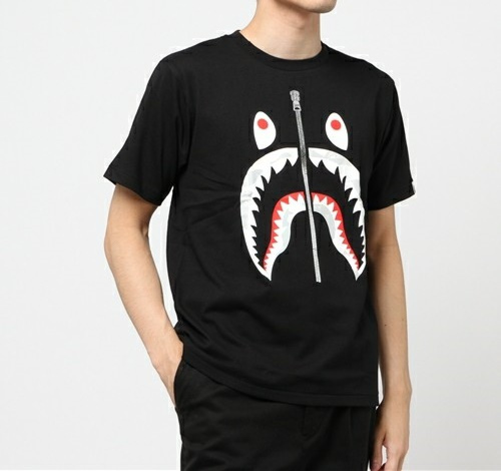 A Bathing Ape City Camo Shark Tee Print Mens Bape Original