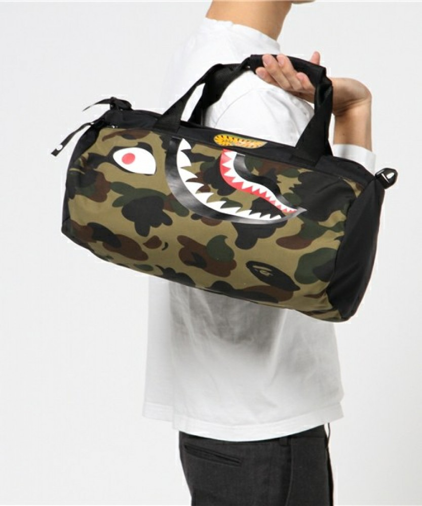 Bape Shark Backpack >> A BATHING APE 1ST CAMO SHARK SPORTS BAG Men Drum Gym ...