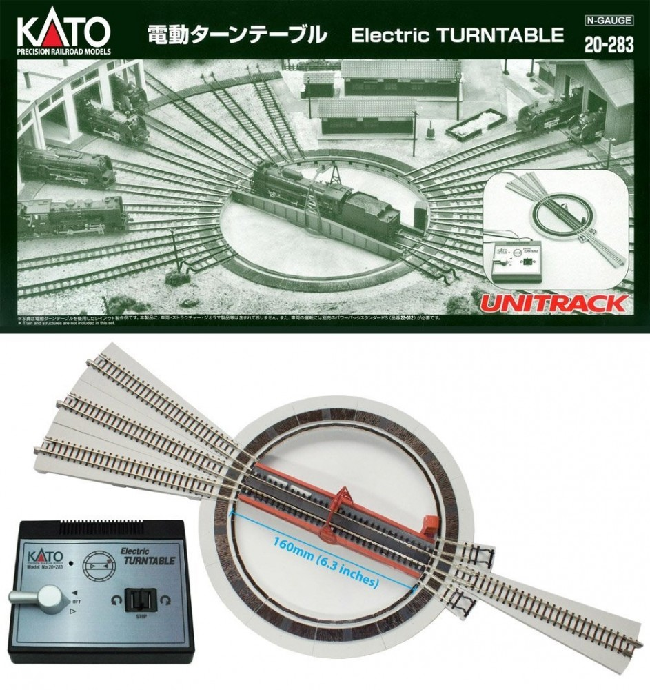 official kato n scale 20 283 unitrack electric turntable from japan ebay. Black Bedroom Furniture Sets. Home Design Ideas