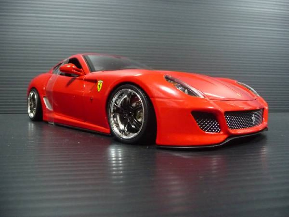 hot wheels 1 18 ferrari 599 gto red custom. Black Bedroom Furniture Sets. Home Design Ideas