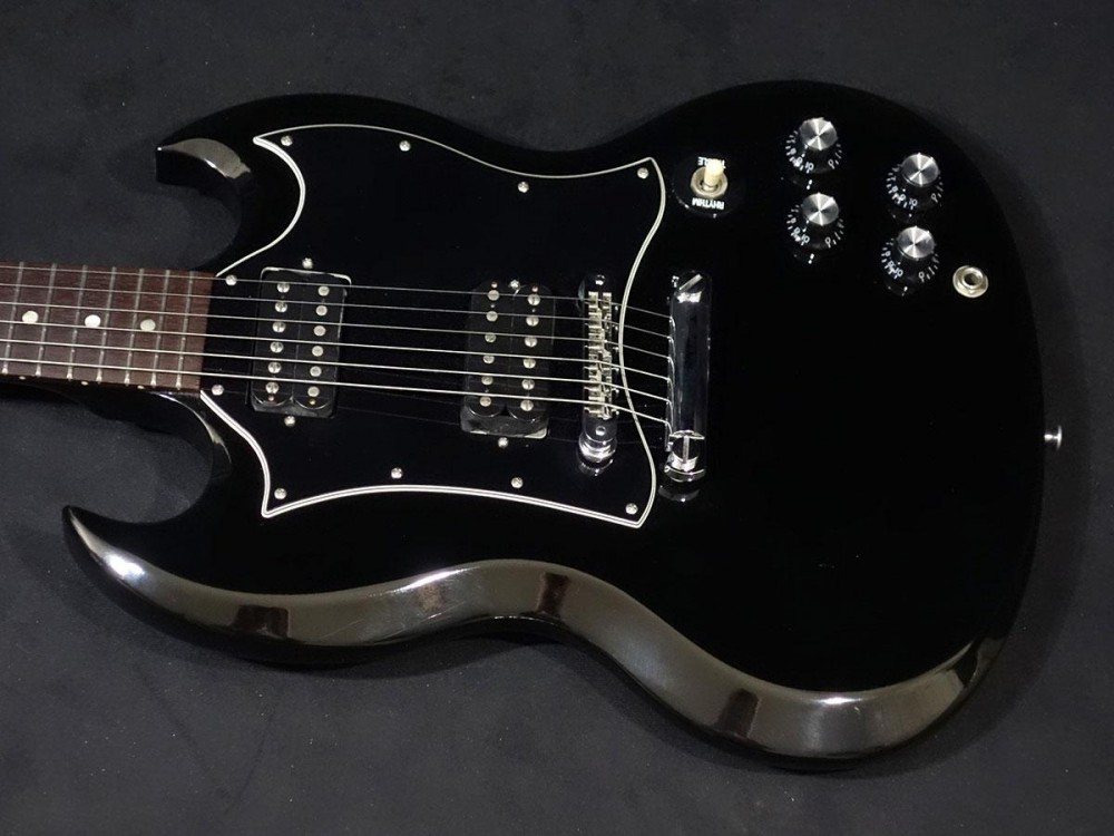 gibson sg special ebony w soft case free shipping guiter bass from japan x1448 ebay. Black Bedroom Furniture Sets. Home Design Ideas