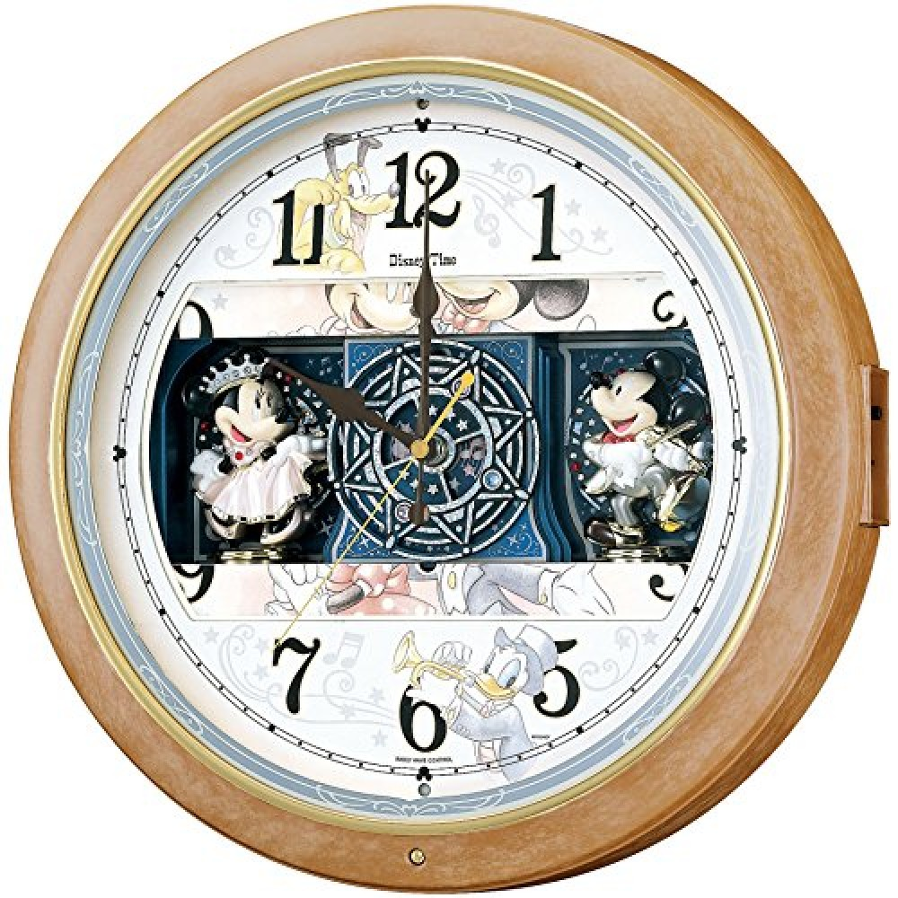 Seiko Japan Radio Wave Wall Clock Mickey Amp Minnie Mouse