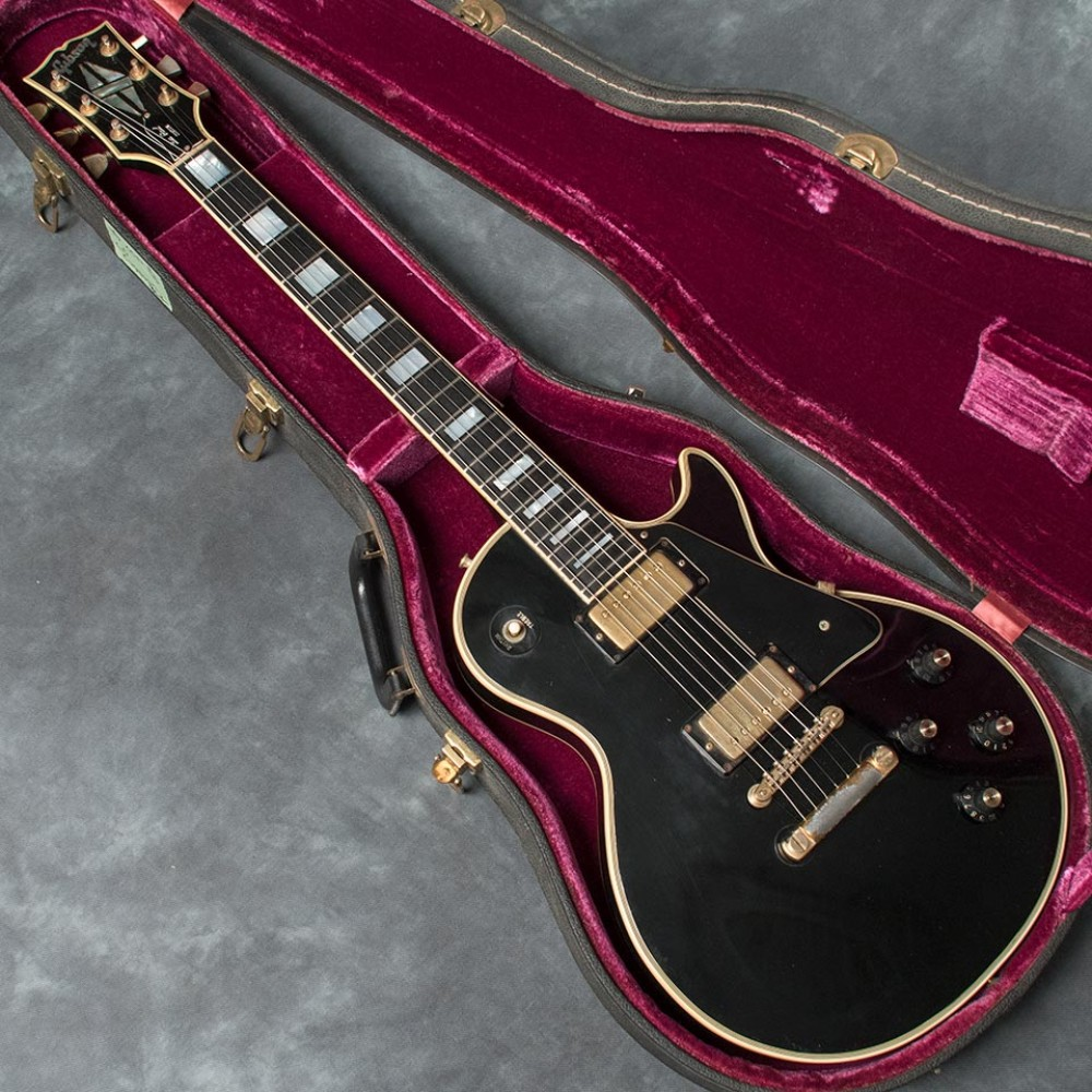 used gibson 1973 les paul custom black w hard case electric guitar ebay. Black Bedroom Furniture Sets. Home Design Ideas