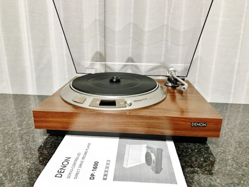 denon dp 1600 working properly turntable record player f s ebay. Black Bedroom Furniture Sets. Home Design Ideas