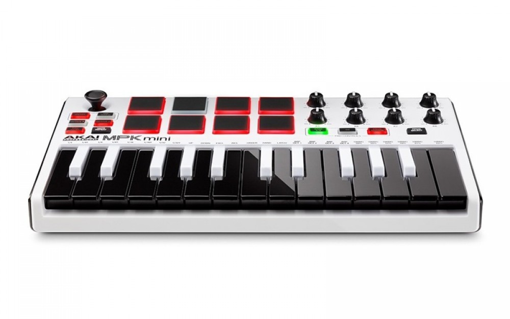 new akai mpk mini mk2 white professional midi keyboard controller with tracking 694318015599 ebay. Black Bedroom Furniture Sets. Home Design Ideas