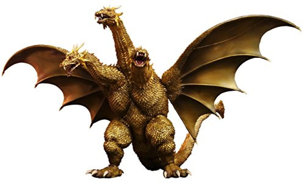 Toho Large Monsters Series King Ghidorah 2001 Height Approx 300mm PVC EMS