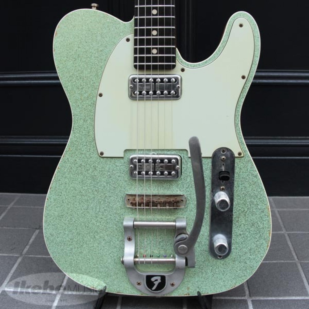 fender custom shop double tv jones relic telecaster with bigsby electric guitar ebay. Black Bedroom Furniture Sets. Home Design Ideas